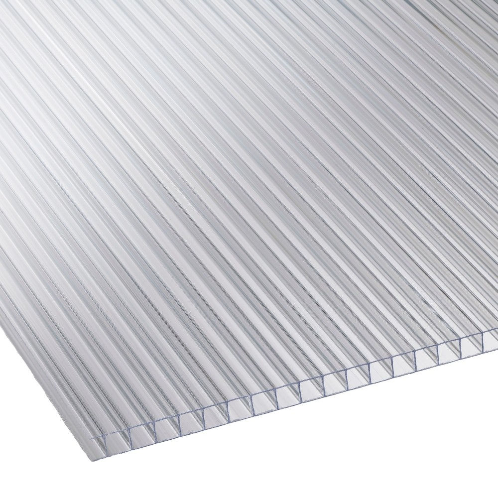 6mm Clear Twinwall Polycarbonate Sheet 1050mm X 6000mm