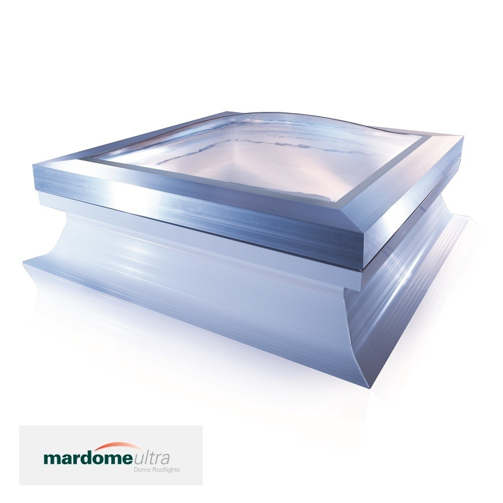 Fixed Dome Rooflight With Sloping Kerb 750mm X 750mm