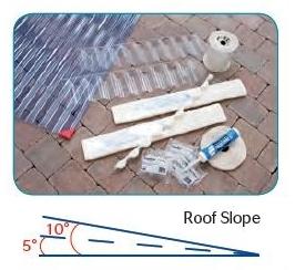 Mini Profile Corrugated Pvc Roof Sheet Lightweight