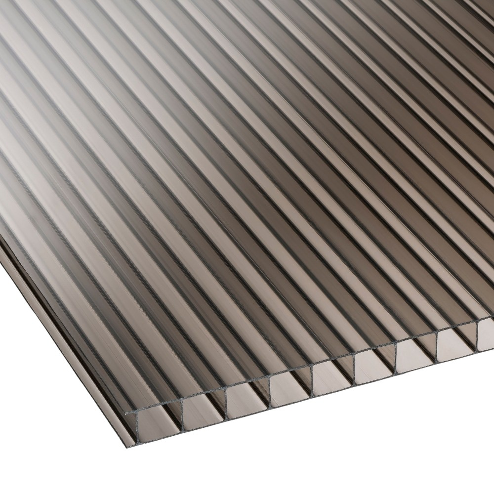 10mm Bronze Twinwall Polycarbonate Sheet 2100mm Roofing
