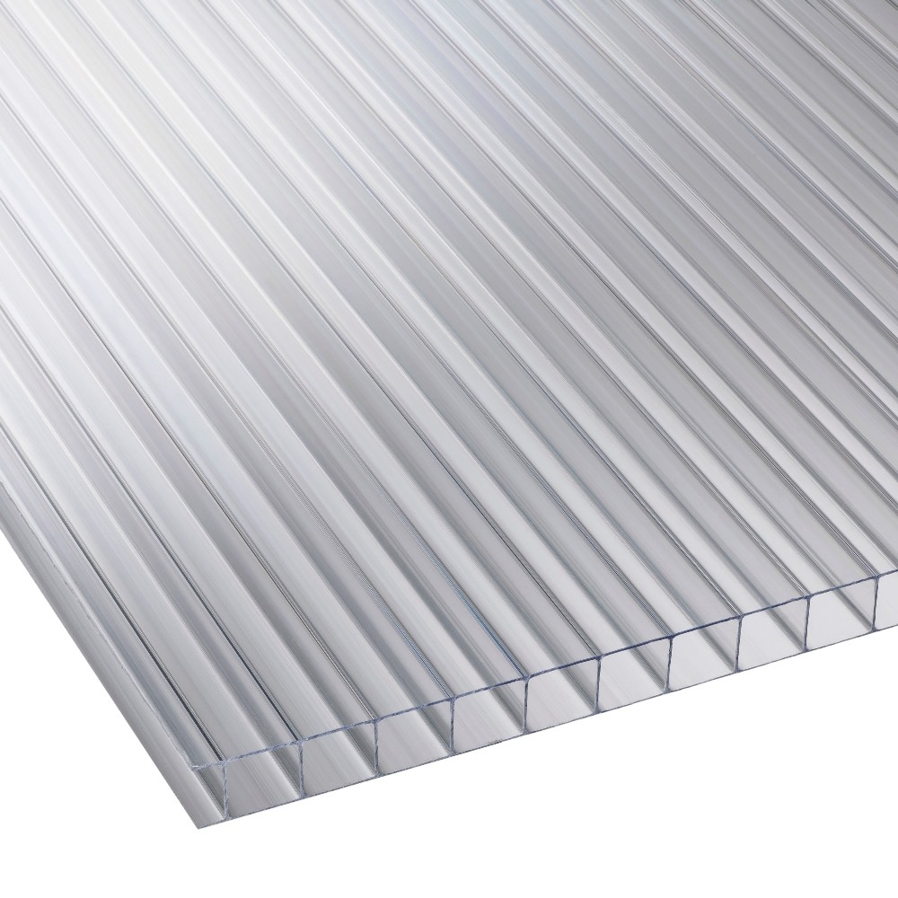 10mm Clear Twinwall Polycarbonate Sheet 700mm Roofing