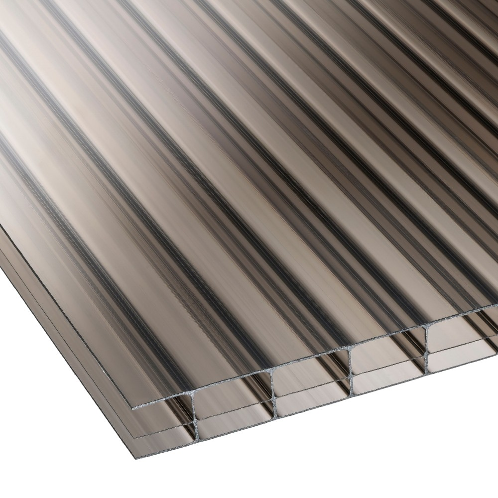 16mm Bronze Triplewall Polycarbonate Sheet 800mm Roofing