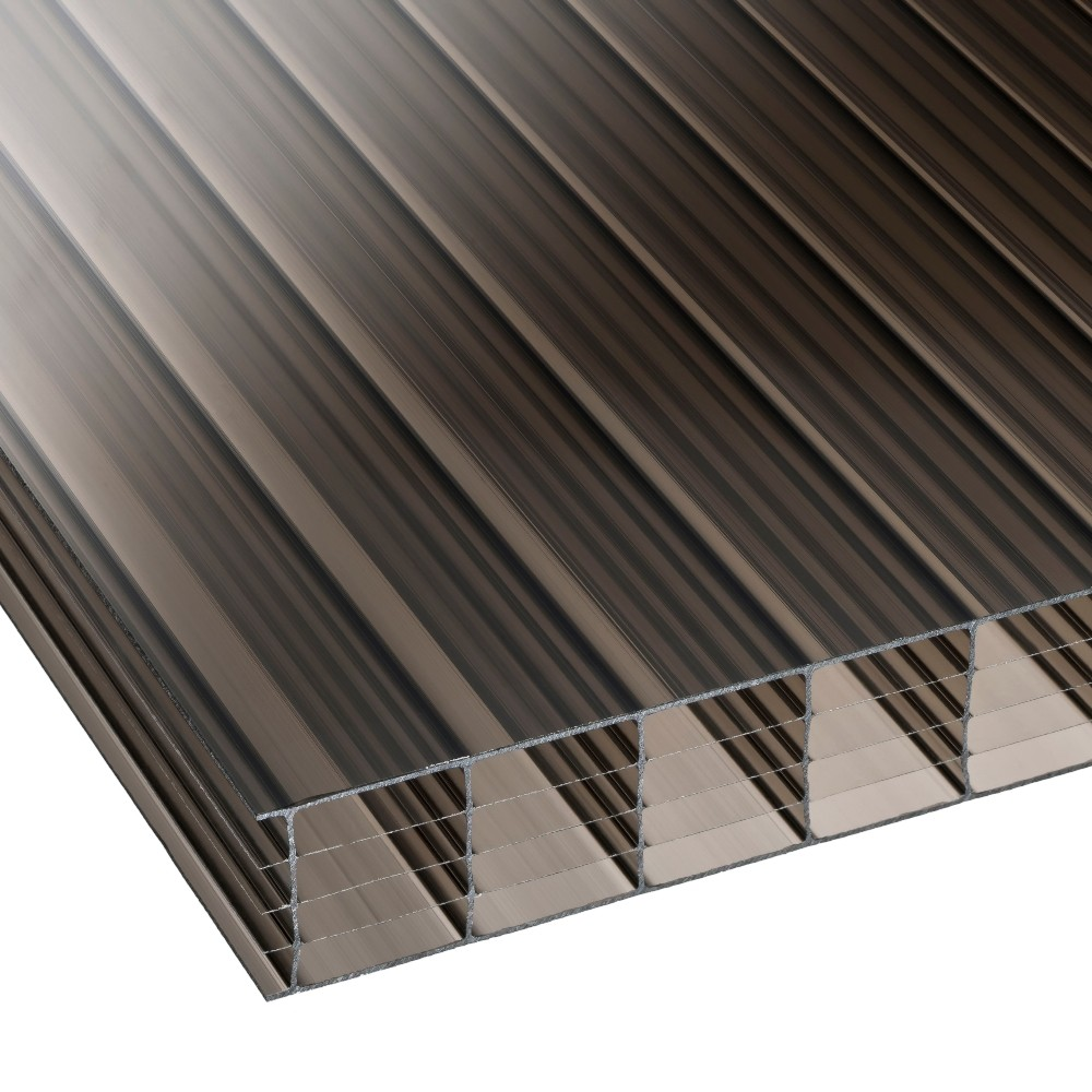 25mm Bronze Multiwall Polycarbonate Sheet 2100mm Wide