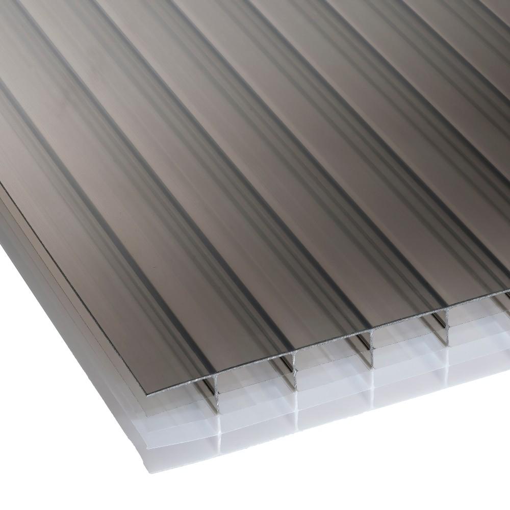 25mm Bronze Opal Multiwall Polycarbonate Sheet 700mm Wide