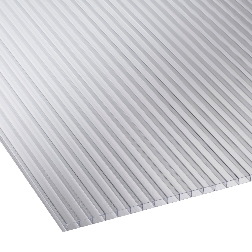 4mm Clear Twinwall Polycarbonate Sheet 610mm X 1220mm