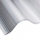 6mm clear corrugated triplewall polycarbonate roof sheet