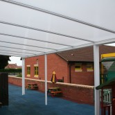 Self Supporting Polycarbonate Roofing System